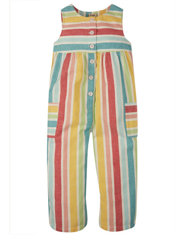 Frugi Julia Dungaree - Rainbow Stripe