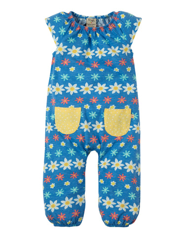 Image of Frugi Dory Gathered Playsuit - Flower Farm - Tilly & Jasper