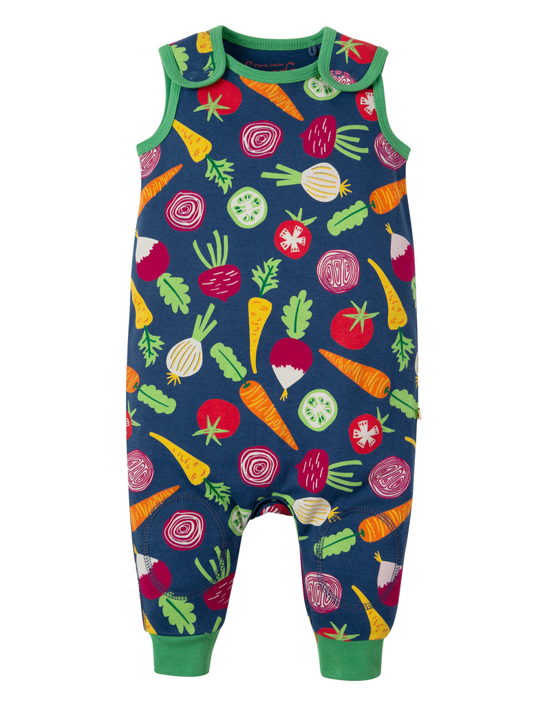 Frugi Kneepatch Dungaree - Homegrown - Tilly & Jasper