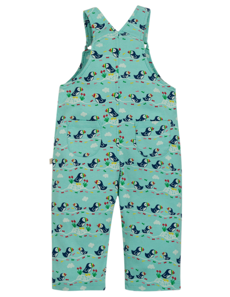 Frugi Lovely Day Dungaree - St Agnes Puffin Parade - Tilly & Jasper