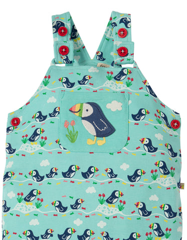 Image of Frugi Lovely Day Dungaree - St Agnes Puffin Parade - Tilly & Jasper