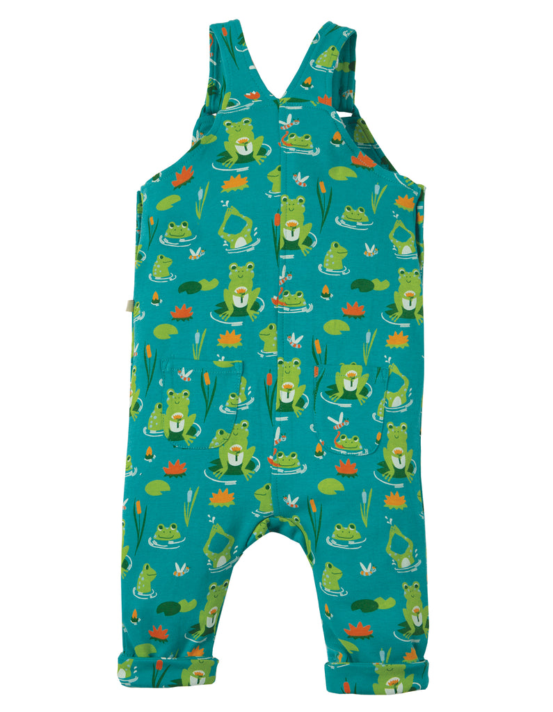 Frugi Lovely Day Dungaree - Samson Green Frog Pond - Tilly & Jasper