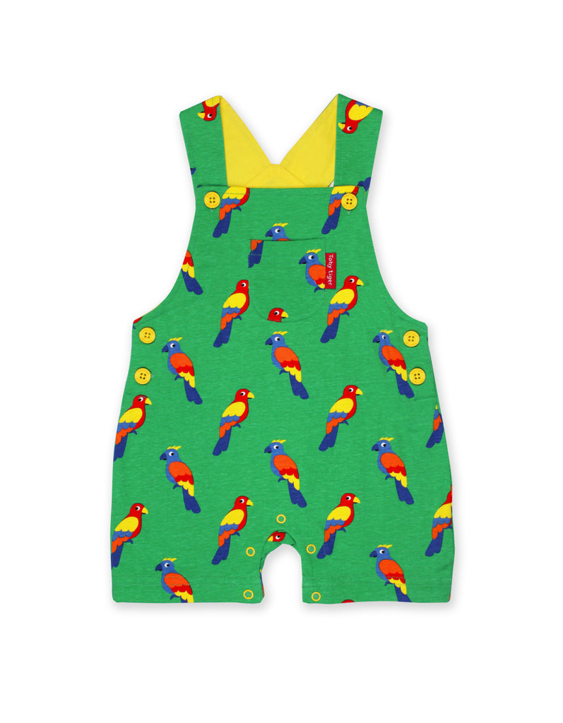 Toby Tiger Parrot Dungaree Shorts