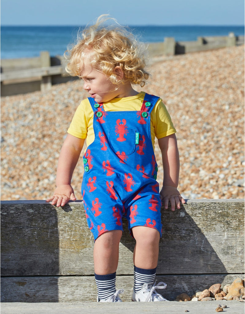 Toby Tiger Lobster Dungaree Shorts
