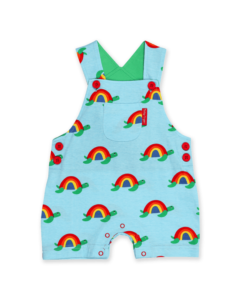 Toby Tiger Multi Turtle Dungaree Shorts