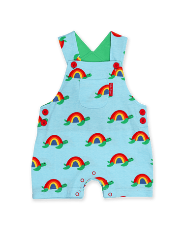 Image of Toby Tiger Multi Turtle Dungaree Shorts