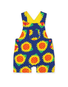 Toby Tiger Sunflower Dungaree Shorts