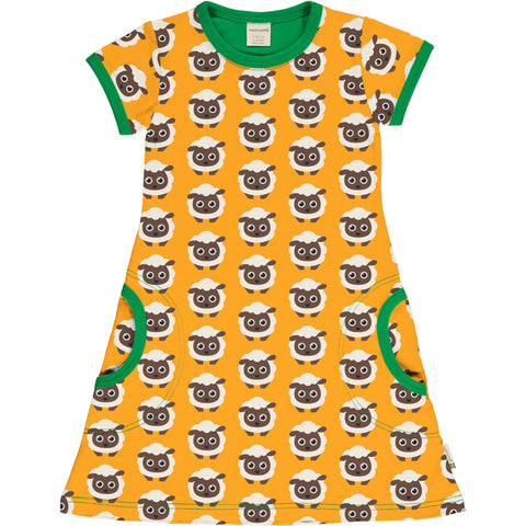 Maxomorra Short Sleeve Dress - Classic Sheep
