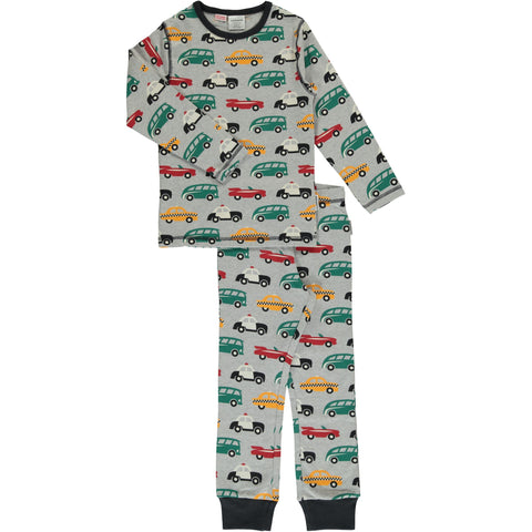 Maxomorra Long Sleeve Pyjama Set - Traffic