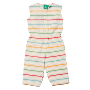 LGR Rainbow Stripe Summer Shortie Jumpsuit