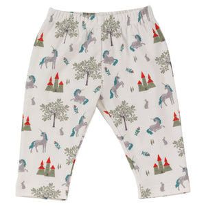 Pigeon Organics Fairy Tale Leggings - Sage Green Dragon