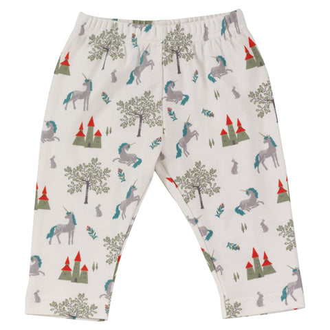 Pigeon Organics Fairy Tale Leggings - Slate Unicorn