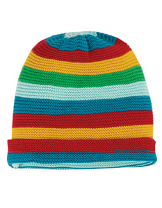 Frugi Harlow Knitted Hat - Rainbow Stripe