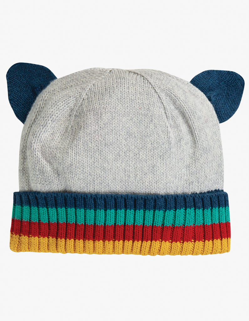 Frugi Friendly Face Knitted Hat - Panda