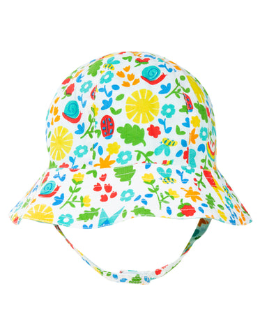 Frugi Reversible Ditsy Hat - Allotment Days