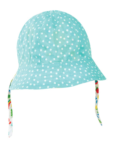 Image of Frugi Reversible Ditsy Hat - Allotment Days