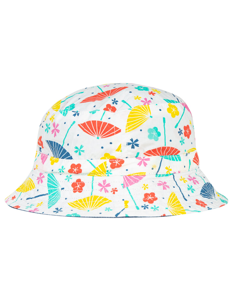 Frugi Hattie Reversible Hat - Soft White Parasols