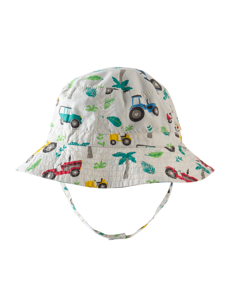 Frugi Little Dexter Reversible Hat - Tropical Tresco - Tilly & Jasper