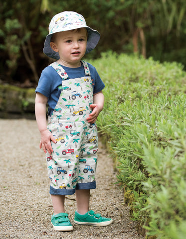 Image of Frugi Little Dexter Reversible Hat - Tropical Tresco - Tilly & Jasper