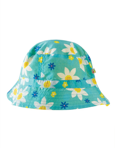 Frugi Hayley Reversible Hat - Daffodil Days - Tilly & Jasper