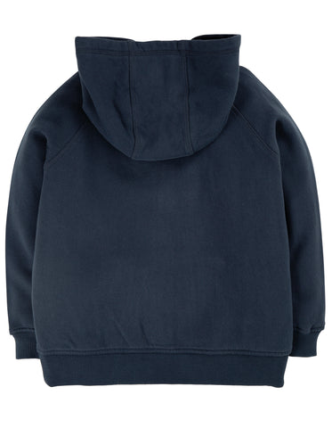 Image of Frugi Lucas Zip Up Hoody -  Indigo/Dragon