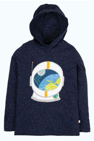 Image of Frugi Jaco Hoody - Space Blue Nepp/Astronaut - Tilly & Jasper