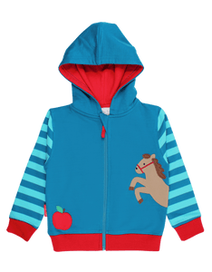 Toby Tiger Jumping Horse Applique Hoodie