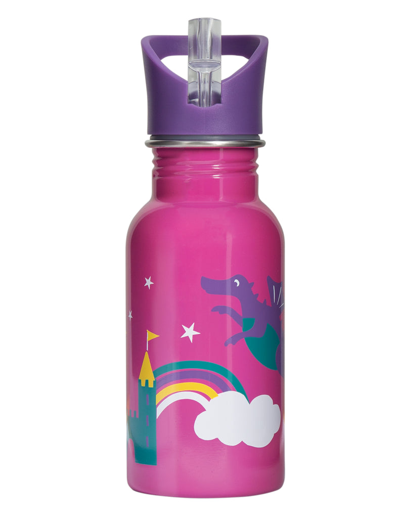 Frugi Splish Splash Steel Bottle - Dragon