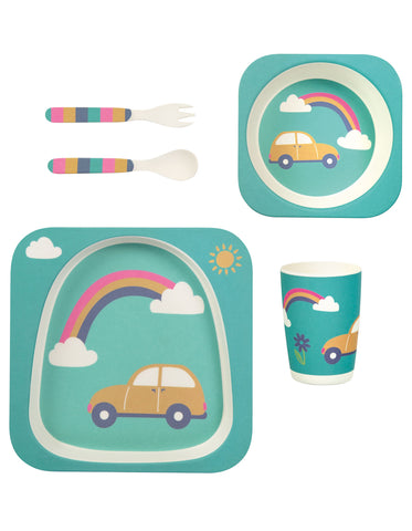 Image of Frugi Bamboo Dinner Set - Rainbow