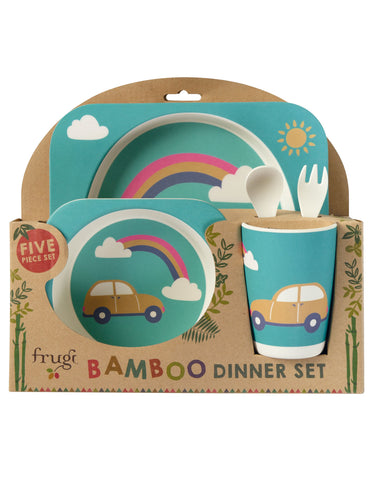 Image of Frugi Bamboo Dinner Set - Rainbow - Tilly & Jasper