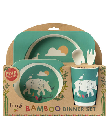 Frugi Bamboo Dinner Set - Rhinos