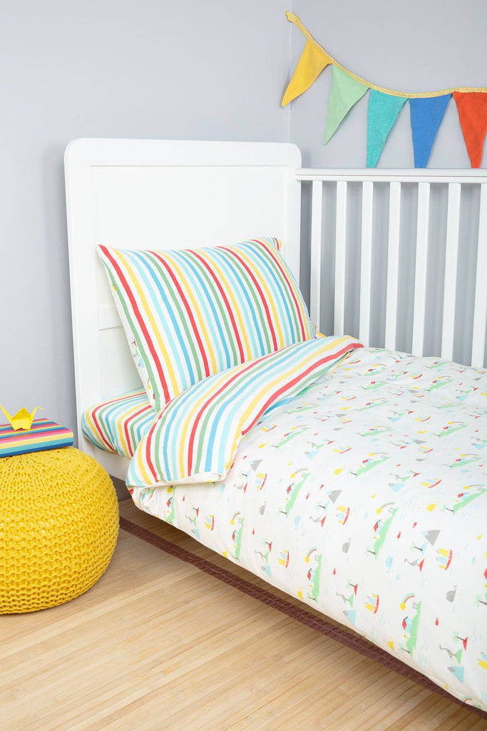 Frugi Cuddle-Up Jersey Cot Bed Duvet Set - Island Life