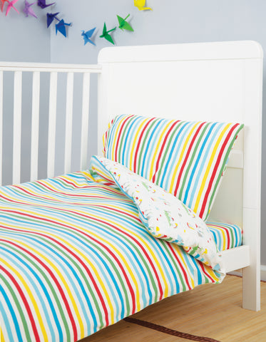 Image of Frugi Cuddle-Up Jersey Cot Bed Duvet Set - Island Life