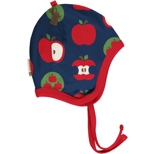 Maxomorra Velour Bonnet - Apple