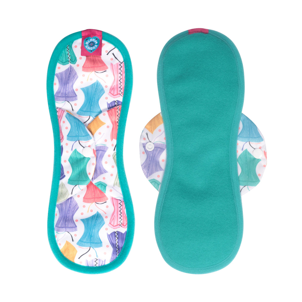 Bloom Single Reusable Sanitary Pad - Hourglass Maxi