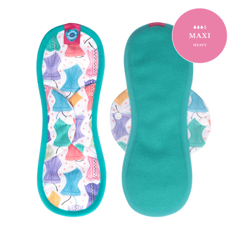 Image of Bloom Single Reusable Sanitary Pad - Hourglass Maxi