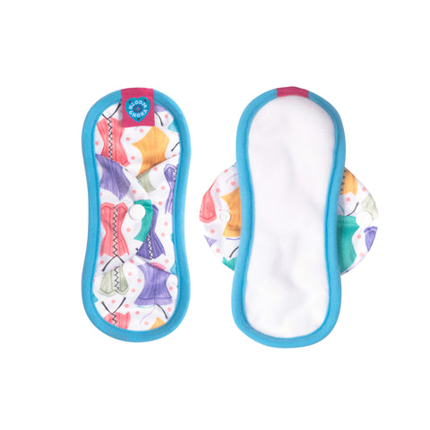 Image of Nora Single Reusable Sanitary Pad - Hourglass Mini