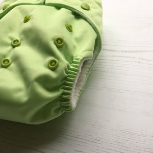 Baba & Boo One Size Nappy - Apple Green - Tilly & Jasper