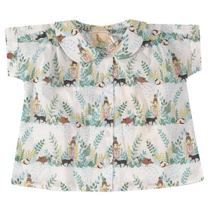 Pigeon Organics Blouse with Peter Pan collar - Secret Garden