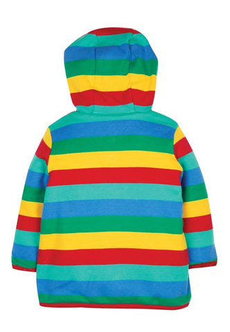 Frugi Reversible Snuggle Jacket - Rainbow Stripe