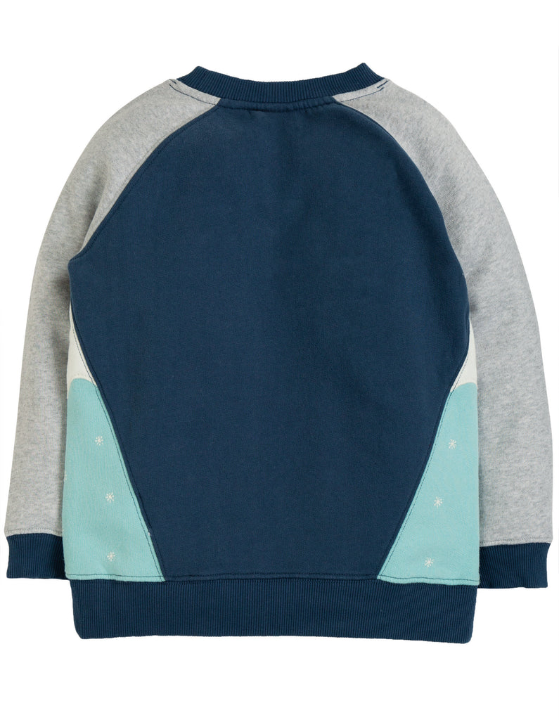 Frugi Summit Sweatshirt - Space Blue/Mammoth