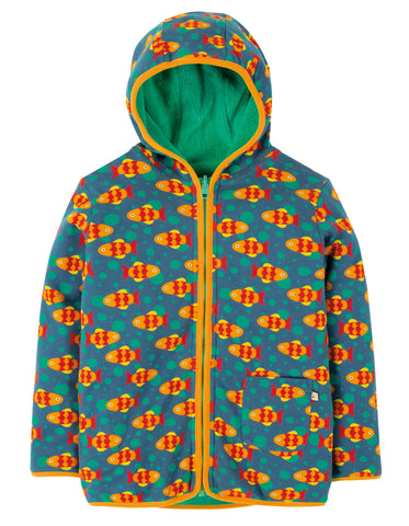 Image of Frugi Reversible Snuggle Jacket - Koi Joy