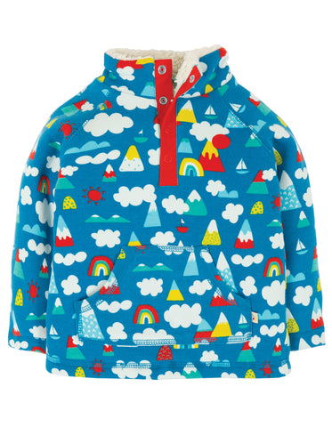 Frugi Little Snuggle Fleece - Climb A Rainbow