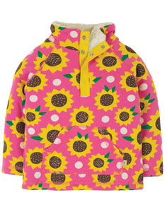 Frugi Little Snuggle Fleece - Flamingo Sunflowers