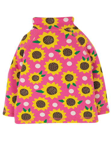 Image of Frugi Little Snuggle Fleece - Flamingo Sunflowers