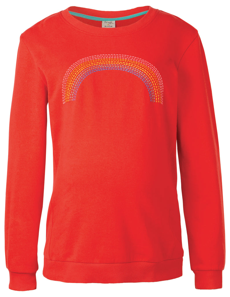 Frugi Byrony Jumper - Koi Red/Rainbow