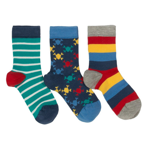 Kite 3 pack pirate socks - Organic Cotton