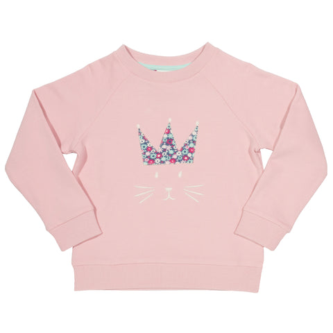 Kite Queen kitty Sweatshirt- Organic Cotton
