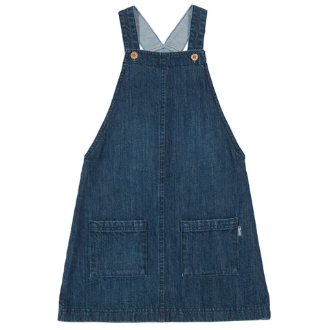 Image of Kite Denim Pinafore - Organic Cotton