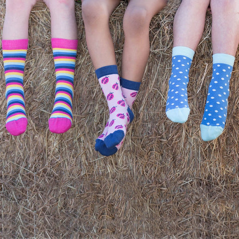 Kite 3 pack ladybird socks - Organic Cotton
